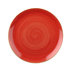 Stonecast Berry Red 12inch Coupe Plate