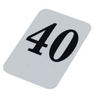 Banquet Table Numbers Black On White 21 To 40