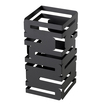 12in Sq Black Multi Level Rise