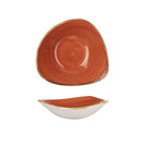 Stonecast Spiced Orange Triangular Bowl 23.5cm