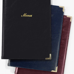 A4 Menu Cover Burgundy 4 Sides To View