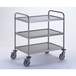 Clearing Trolley with 2 Handles - 3 Tray 800x530mm