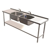 Quick Service Double Sink w.Double Drain 2400x600mm