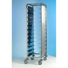 Tray Clearing Trolley 1 x 12 Tray - S/S Frame