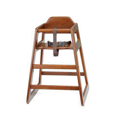 High Chair Assembled Walnut 20 x 19 x 26.75 inch