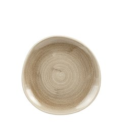 Patina Antique Taupe Organic Plate 8.25 inch
