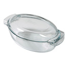 Casserole Clear Glass Oval 4.5ltr