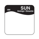 Daymark label Sunday Removable Square 2.5cm
