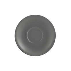 Matt Grey Porcelain Saucer 12cm