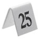 Tent Table Numbers Black On White 26 To 50
