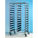 Tray Clearing Trolley 2 x 12 Tray - S/S Frame