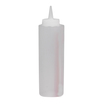 Sauce Bottle Clear Plastic 34cl