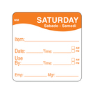 Daymark label Saturday Removable Square 5.1cm