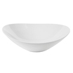 Bowl White Polycarbonate Ellipse 25x23x6.5cm