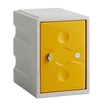 1 Door Plastic Locker Grey with Yellow Door