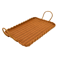 Polywicker Tray With Handles 285x430mm