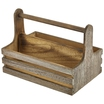 Medium Rustic Wooden Table Caddy