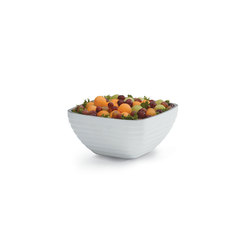 White Square Insulated Serving Bowl 1.7L Litre