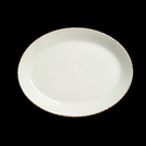 Brown Dapple Oval Plate Coupe 20.25cm (8inch)