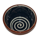 ABS Terracotta 13cm Bowl (Blue with Cream Swirl)