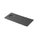 Basalt Trays With Double Well Indent 12 x 25cm