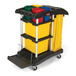 Rubbermaid Waste Bag Holder For Cleaning Cart
