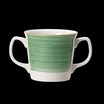 Freedom Double Handled Mug Green 10oz 28.5cl