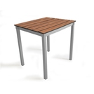 Outdoor Slatted Table 600x600x760high - Chestnut