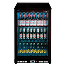 Lec LED Bottle Cooler Single Door Black