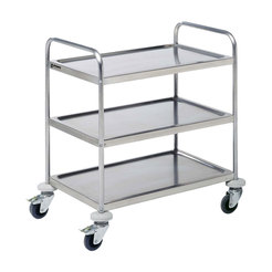 Prepara Self Assembly Service Trolley 3 Tier