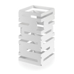 12in Sq Riser White Multi Level