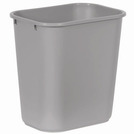 Deskside Recycling Waste Bin Grey 26.6ltr