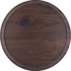 Laminate Warm Vintage Wood Effect Tray 45Cm Diameter
