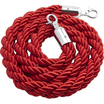 Barrier Rope Chrome Fittings Red 1.5m