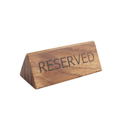 reserve sign in acacia table numbers signs stands table