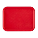Tray Fast Food Red Oblong Poly 34.5 x 26.5cm