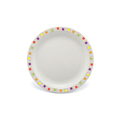 Duo Plate Narrow Rim Abstract Multi 17cm Poly