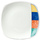 New Horizons Plate Square Check Border 21.5cm