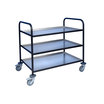 Trolley With Aluminium Trays 3 Tier