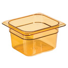 Gastronorm Container High Heat 1/6 100mm Amber