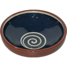 ABS Terracotta 25cm Bowl (Blue with Cream Swirl)
