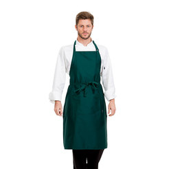 Brigade Adjustable Neck Bib Apron Green
