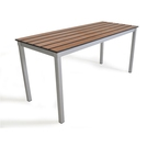 Outdoor Slatted Bench 1000x300x460high - Chestnut