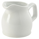 Genware Porcelain White Jug 14cl 5oz