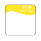Daymark label Tuesday Removable Square 2.5cm