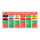 Fire Extinguisher Code Sign