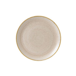 Stonecast Nutmeg Cream 6inch Coupe Plate