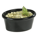 Plain Ramekin Black Melamine Oval 6cl