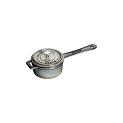 Saucepan / Pot Grey Cast Iron Round 25cl 10cm
