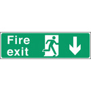 Safety Sign Fire Exit Down Arrow